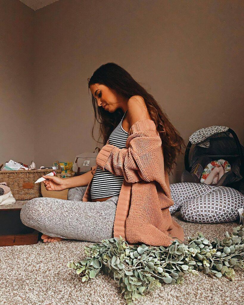 dormir avec coussin d'allaitement